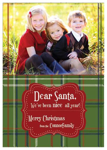 holiday photo cards - dear santa by Cassie Schneider