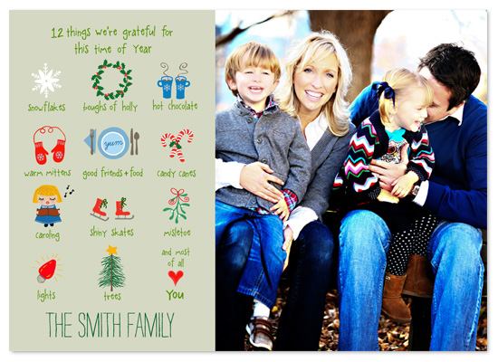 holiday photo cards - 12 Things by Jeannene Langford