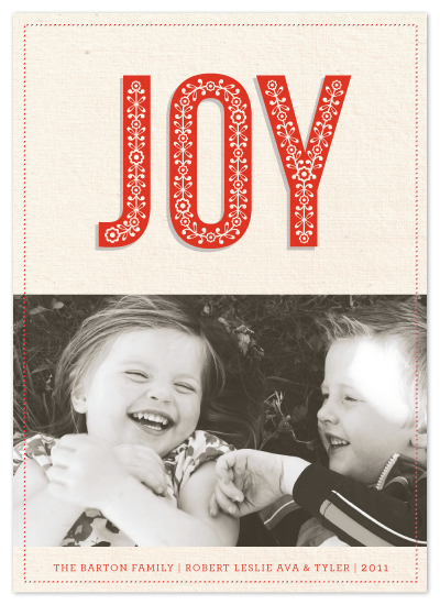 holiday photo cards - Rustic Joy by Laura Hankins