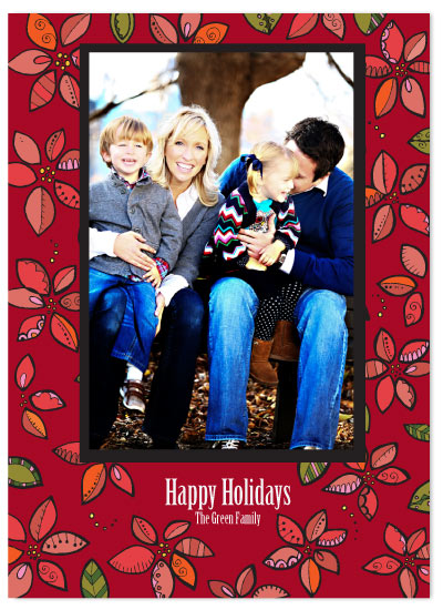holiday photo cards - Festive Poinsettias by Rebecca Green