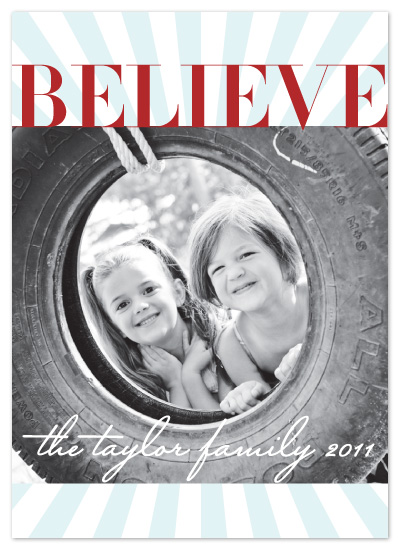 holiday photo cards - Believe by The Opened Envelope
