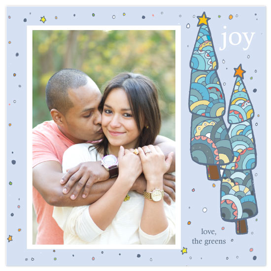 holiday photo cards - Snowdust Trees by Rebecca Green