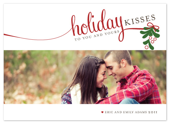 holiday photo cards - Holiday Kisses by The Opened Envelope