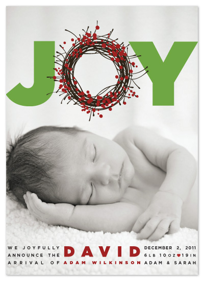 holiday photo cards - Joyful by The Opened Envelope