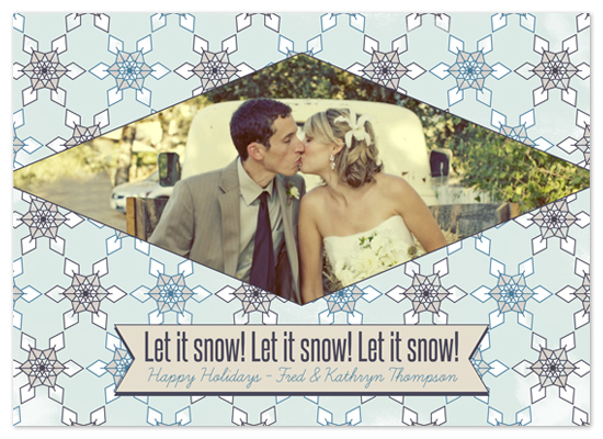 holiday photo cards - Let it snow by The Papeterie Co.