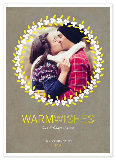 holiday photo cards - Warm Wishes by MelStudio