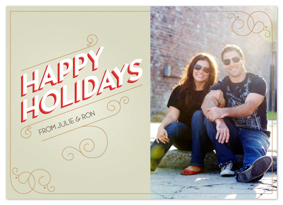 holiday photo cards - Vintage lettering by Neeti Kapadia