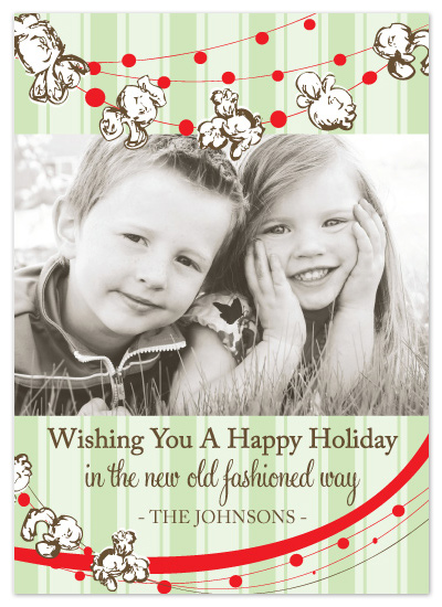 holiday photo cards - The New Old Fashioned Way by Jenna Hughes