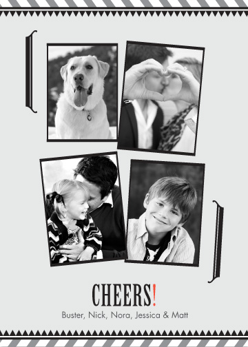holiday photo cards - Black and White Movie by Egg City Arts