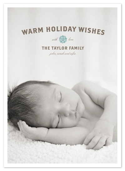 holiday photo cards - Peaceful Wishes Baby by Tracy White Taylor