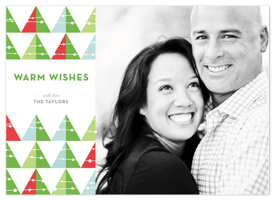 holiday photo cards - Mod Tree Greeting by Tracy White Taylor