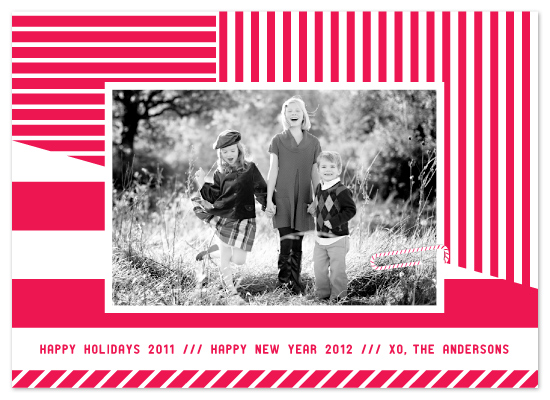 holiday photo cards - peppermint stripe by campbell and co.