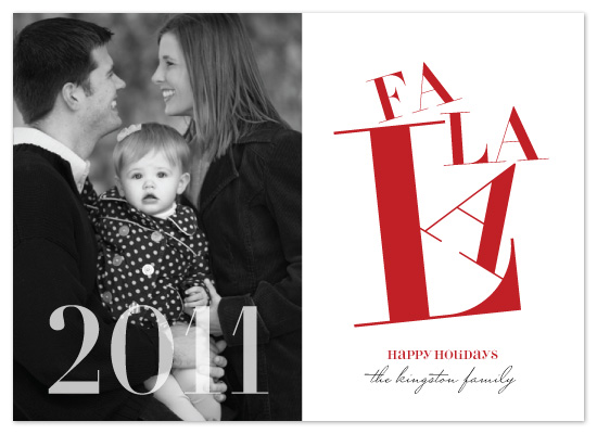 holiday photo cards - Fa La La by The Opened Envelope