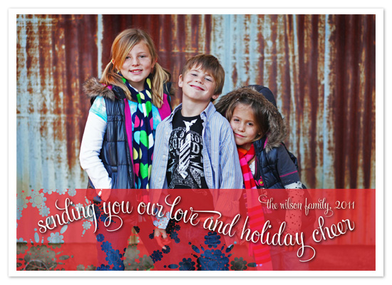 holiday photo cards - Polka Dot Snowflakes by Jennifer Sutherland