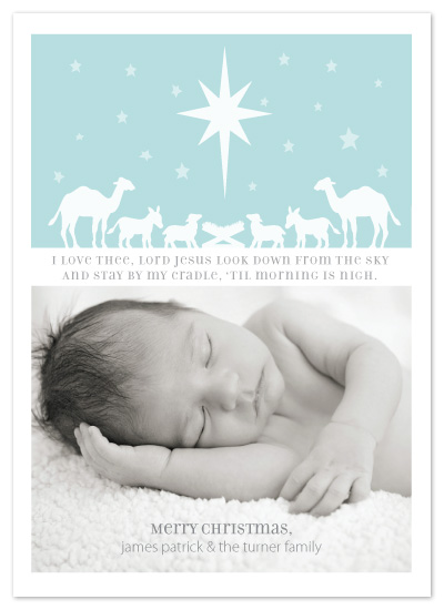 holiday photo cards - Away in a Manger by Kristin Taddey