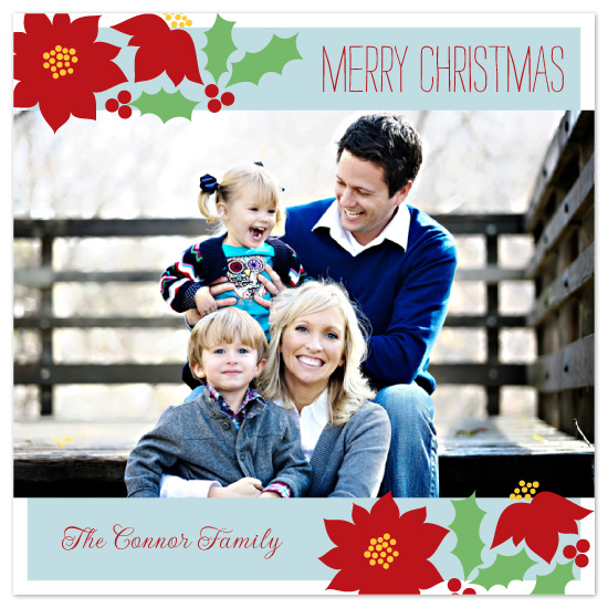 holiday photo cards - holiday floral by Jennifer Sutherland