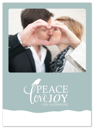 holiday photo cards - Peace Love Joy by Designs by Yu