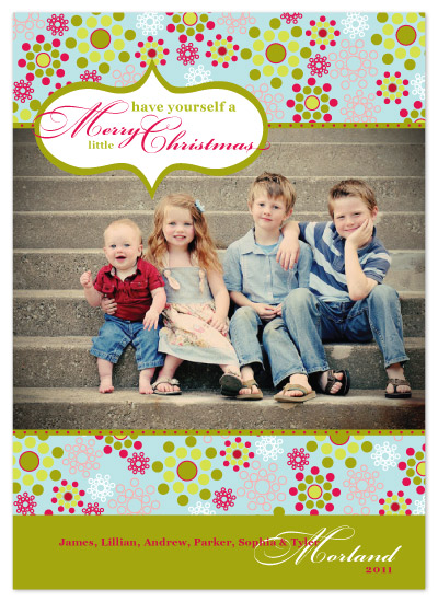 holiday photo cards - A Merry little Christmas by Ambabee