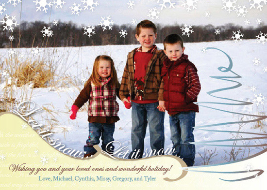 holiday photo cards - Let It Snow, Let It Snow, Let It Snow Magic! by carrie luu