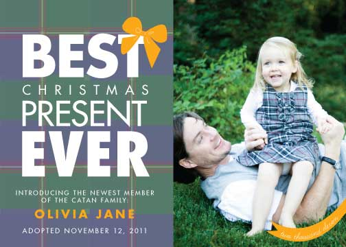 holiday photo cards - Best Plaid Present Ever by victoria