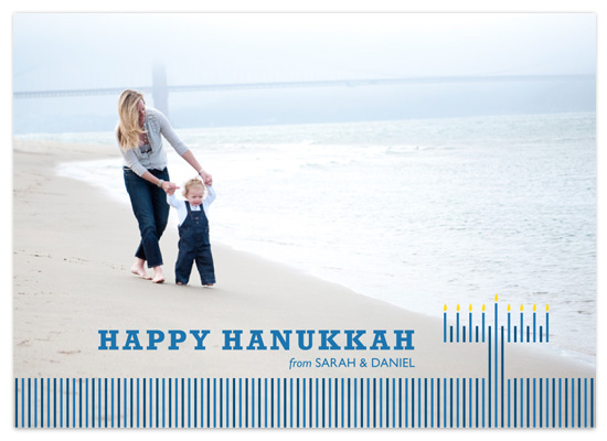 holiday photo cards - Line up for Hanukkah by victoria