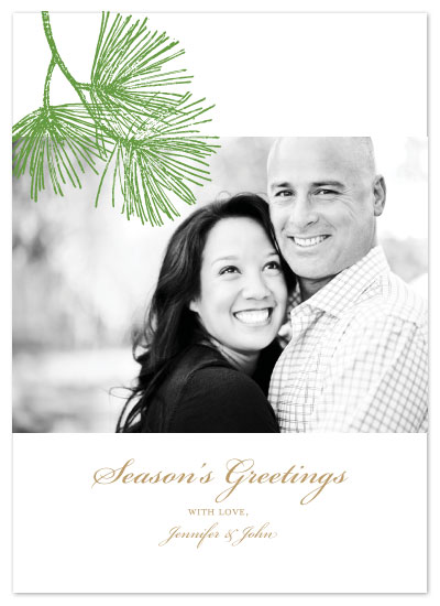 holiday photo cards - Pine for the Season by Joie Studio
