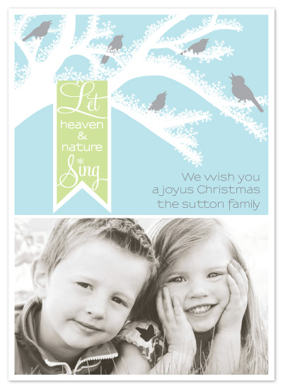 holiday photo cards - Sing a Song by Kristin Taddey