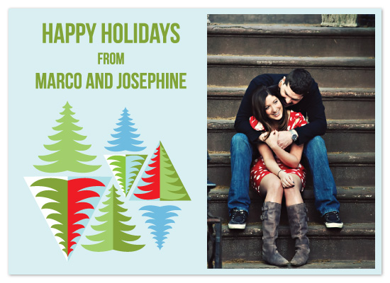 holiday photo cards - Folk Tree Textile Holiday Photo Card by Kristine Morich