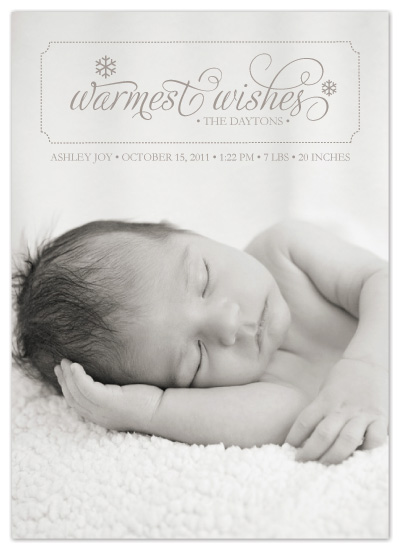 holiday photo cards - Warmest Wishes by Designs by Yu
