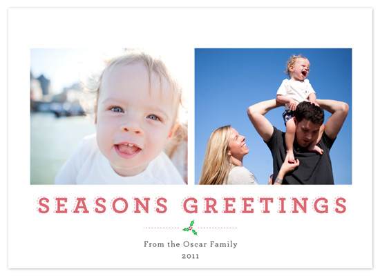 holiday photo cards - Dashing Holly by victoria