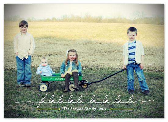 holiday photo cards - falalalala la la la la  by Design Lotus