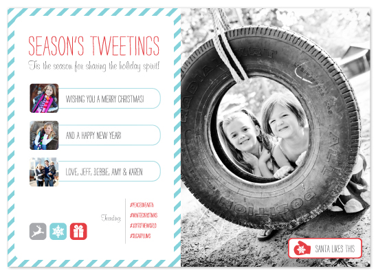holiday photo cards - Season's Tweetings by Jacks Master