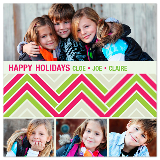 holiday photo cards - Zig Zag Tree by Lizzy B Loves