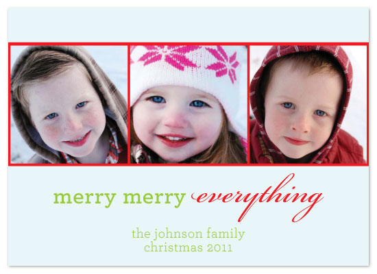holiday photo cards - Merry Merry Everything by Joie Studio