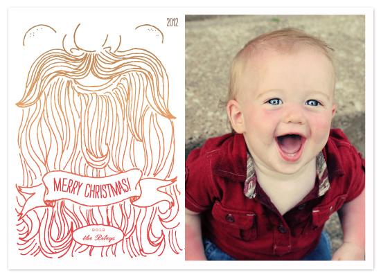 holiday photo cards - Holly Jolly Beard by Jacks Master