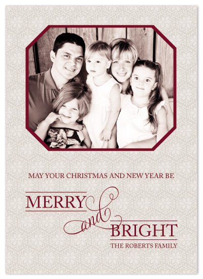 holiday photo cards - Merry and Bright by Designs by Yu