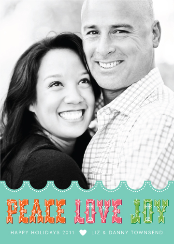 holiday photo cards - PeaceLoveJoy Happy Holidays by Liddabits