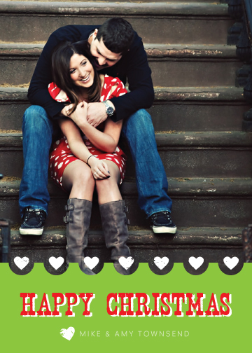 holiday photo cards - Happy Christmas Love by Liddabits
