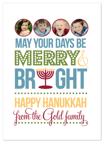 holiday photo cards - Merry & Bright Hanukkah by Courtney Thompson