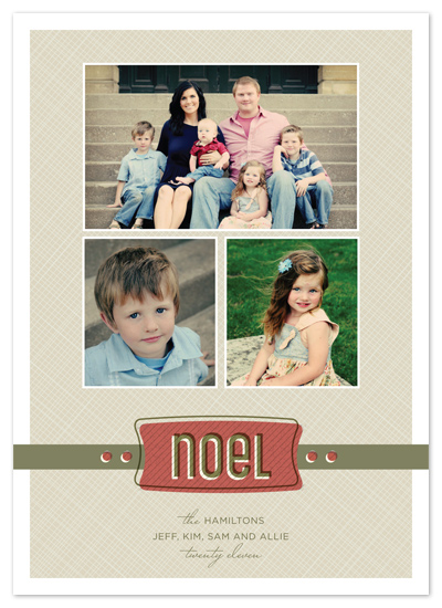 holiday photo cards - warm noel by Carrie Eckert