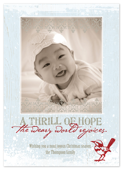 holiday photo cards - Thrill of Hope by Courtney Thompson