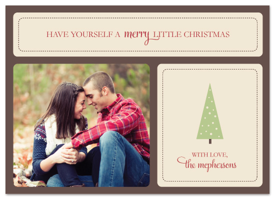 holiday photo cards - Merry Little Christmas by Designs by Yu
