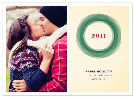 holiday photo cards - Geometric Wreath by Lizzy B Loves