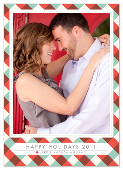 holiday photo cards - Gingham Greetings by Ally Fomont