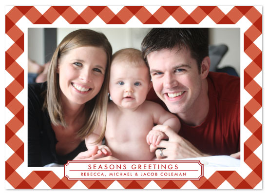 holiday photo cards - Red Ribbon Greeting by Ally Fomont