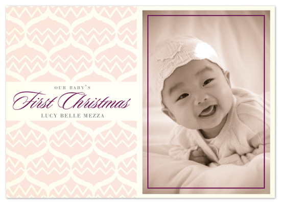 holiday photo cards - Baby's First Christmas by Lizzy B Loves