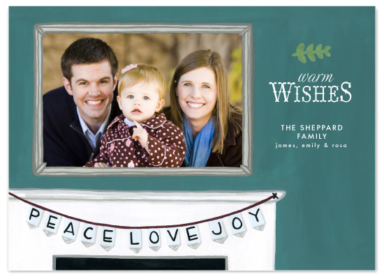 holiday photo cards - Mantle of Wishes by Laurens