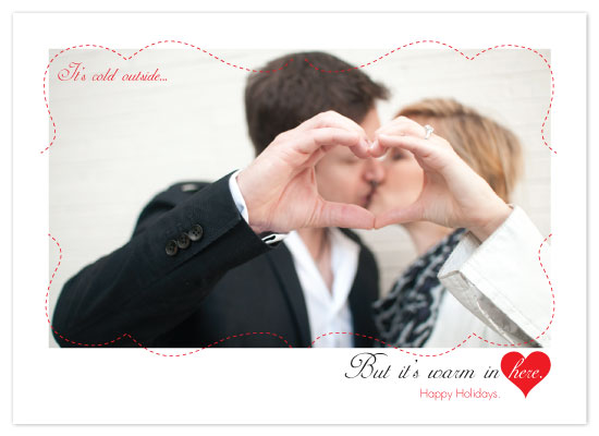 holiday photo cards - Warm Hearts by KtRazz