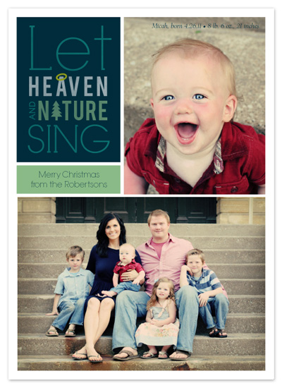 holiday photo cards - Let Heaven and Nature Sing by Frooted Design