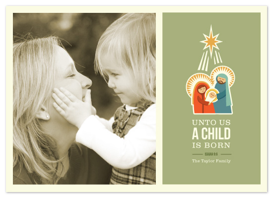 holiday photo cards - Isaiah 9:6 by Smudge Design